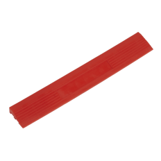 Sealey FT3ERM Polypropylene Floor Tile Edge 400 x 60mm Red Male - Pack of 6