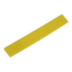 Sealey FT3EYM Polypropylene Floor Tile Edge 400 x 60mm Yellow Male - Pack of 6