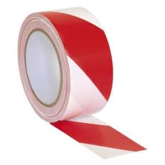 Sealey HWTRW Hazard Warning Tape 50mm x 33 Metre Red/White