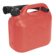 Sealey JC5R 5ltr Fuel Can - Red