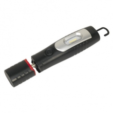 Sealey LED3602 Rechargeable 360 Deg. Inspection Lamp 7 SMD + 3W LED Black Lithium-ion