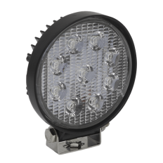 Sealey LED3R Round Work Light with Mounting Bracket 27W LED