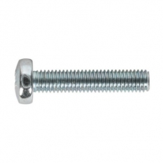 Sealey MSP525 Machine Screw M5 x 25mm Pan Head Pozi Zinc DIN 7985z Pack of 50