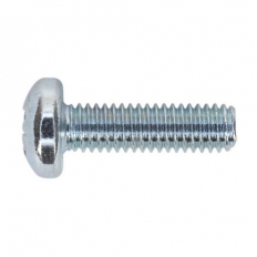 Sealey MSP620 Machine Screw M6 x 20mm Pan Head Pozi Zinc DIN 7985z Pack of 50