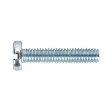 Sealey MSS420 Machine Screw M4 x 20mm Pan Head Slot Zinc DIN 85 Pack of 50