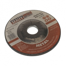 Sealey PTC/115G Diameter 115 x 6mm Grinding Disc 22mm Bore
