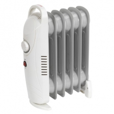 Sealey RD800 Oil-Filled Radiator Mini 800W/230V 6 Element