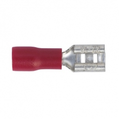 Sealey RT20 Push-On Terminal 4.8mm Female Red Pack of 100
