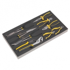 Sealey Siegen S01129 Tool Tray with Pliers Set 9pc
