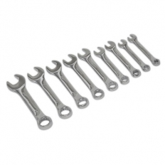 Sealey S01157 Stubby Combination Spanner Set 9pc - Metric