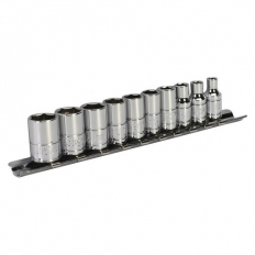 "Sealey Siegen S0497 10pc 1/4""Sq Drive Socket Set - Metric"