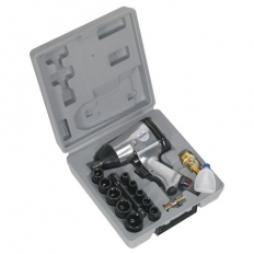 "Sealey SA2/TS 1/2""Sq Drive Air Impact Wrench Kit with Sockets"