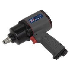 "Sealey SA201 Air Impact Wrench 1/2""Sq Drive Composite Twin Hammer"