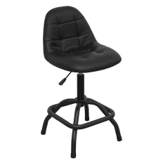 Sealey SCR01B Workshop Stool Pneumatic with Adjustable Height Swivel Seat & Back Rest
