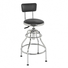 Sealey SCR14 Pneumatic Workshop Stool with Adjustable Height Swivel Seat & Back Rest