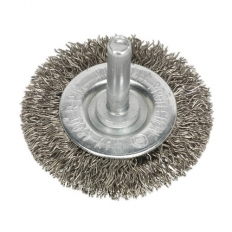 Sealey SFBS50 Flat Wire Brush Stainless Steel 50mm with 6mm Shaft