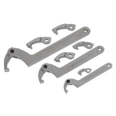 Sealey SMC2 Adjustable C Spanner - Hook & Pin Wrench Set 11pc