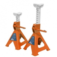 Sealey VS2002OR Axle Stands (Pair) 2tonne Capacity per Stand Ratchet Type - Orange