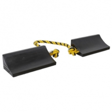 Sealey WC16 Rubber Wheel Chocks Heavy-Duty - Pair