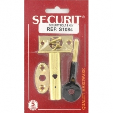 Securit S1084 Security Bolt And Key Brass Plated Pack Of Pack Of 1