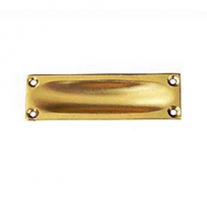 Securit S2660 Brass Flush Pull 90mm Pack Of 1