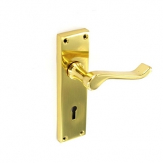 Securit S2840 Scroll Brass Lock Handles 155mm Pack Of 1 Pr