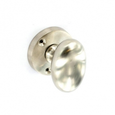 Securit S2870 Brushed Nickel Oval Mortice Knobs 57mm Pack Of 1 Pr