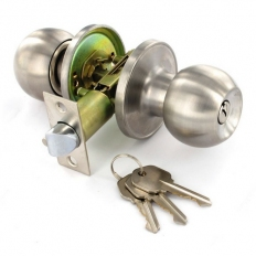 Securit S2953 Stainless Steel Entrance Lock Knob Set 60 / 70mm Pack Of 1 Set