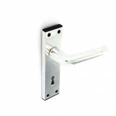 Securit S3077 Aluminium Lock Furniture Bright 150mm Pack Of 1 Pr