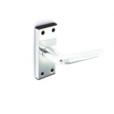 Securit S3078 Aluminium Latch Furniture Bright 100mm Pack Of 1 Pr