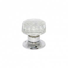 Securit S3290 Glass Mortice Knobs Chrome Plated 60mm Pack Of 1 Pr