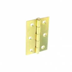 Securit S4318 Loose Pin Butt Hinges Brass Plated 75mm Pack Of 1 Pr
