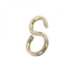 Securit S5644 Connecting Hook Brass / Chrome Plated 22mm Pack Of 4