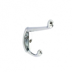 Securit S6106 Hat And Coat Hook Chrome Plated 105mm Pack Of 2