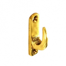 Securit S6534 Brass Tieback Hook Modern 40mm Pack Of 2