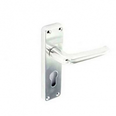 Securit S3107 Aluminium Euro Handles Bright 150mm
