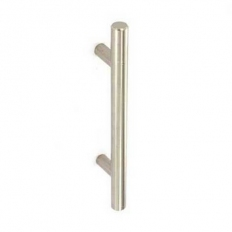 Securit S3712 14mm Bar Handle Stainless Steel / Brushed Nickel 128mm Centres