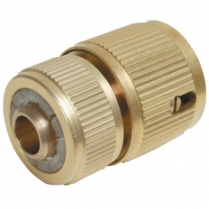 Silverline 196506 Quick Connector Auto Stop Brass 1/2""