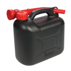 Silverline 199991 Plastic Fuel Can 5Ltr Black