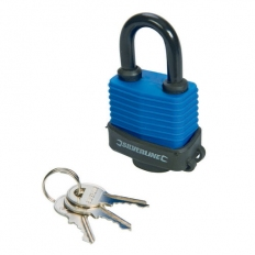 Silverline 218458 Weather-Resistant Padlock Long Shackle 49mm