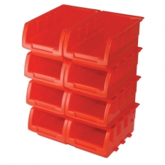 Silverline 250968 Stacking Boxes Set 8pce 165 x 105 x 75mm