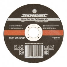 Silverline 276598 Heavy Duty Inox Cutting Disc Flat 125 x 1.2 x 22.23mm