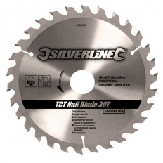 Silverline 282390 TCT Nail Blade 184 x 30mm 30T