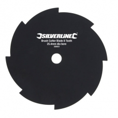 Silverline 282623 Brush Cutter Blade 8 Tooth 25.4mm dia bore