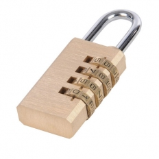 Silverline 360848 Combination Padlock Brass 4-digit