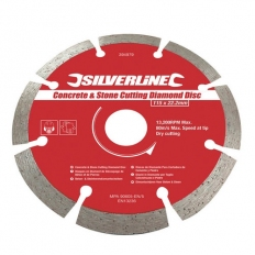 Silverline 394979 Concrete & Stone Cutting Diamond Blade 115 x 22.2mm