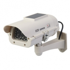 Silverline 614458 Solar-Powered Dummy CCTV Camera with LED Solar-Powered