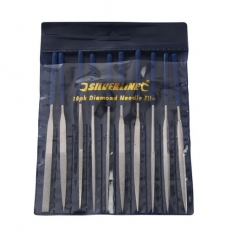 Silverline 633509 Diamond Needle File Set 10pce 140mm