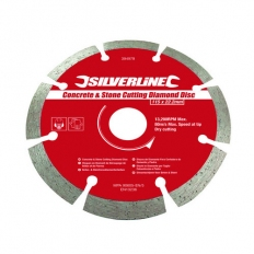 Silverline 633624 Concrete & Stone Cutting Diamond Blade 125 x 22.2mm