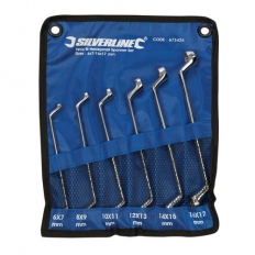 Silverline 673424 Offset Ring Spanners Set 6pce 6 - 17mm